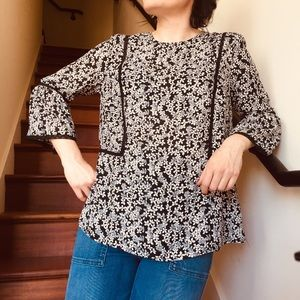 Brand New Who What Wear Floral Blouse Size Small